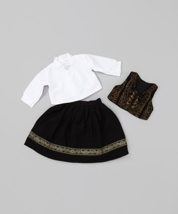 Black & White 18''-Doll Outfit