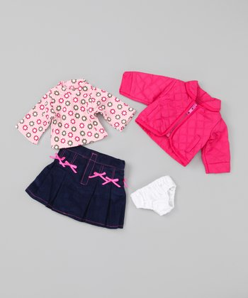 Pink & Denim Doll Outfit
