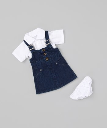 Denim Pinafore 18''-Doll Outfit