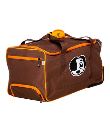 Brown Wheel Travel Bag