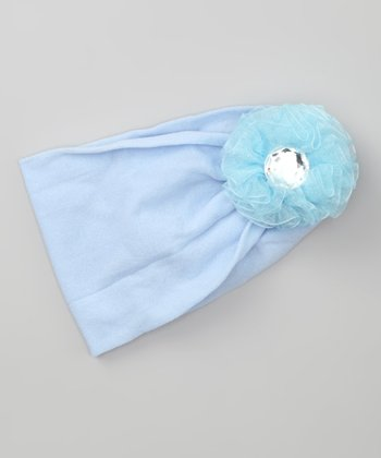 Baby Blue Flower Stretch Headband