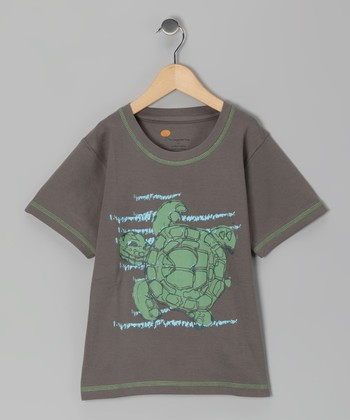 Gray Turtle Organic Tee - Toddler & Boys