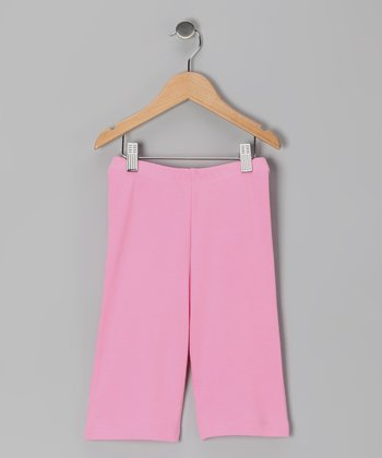 Pink Organic Shorts - Toddler & Girls