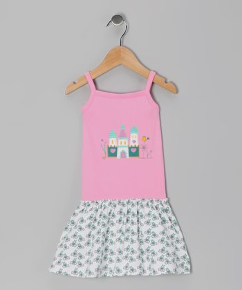 Pink Castle Organic Dress - Toddler & Girls