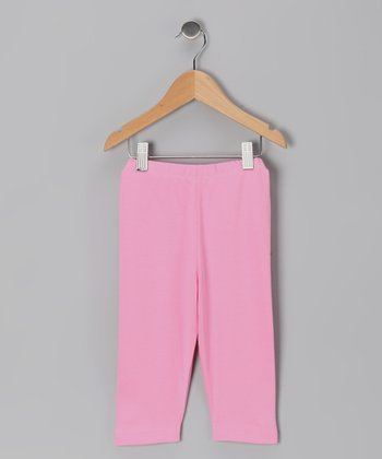 Pink Organic Leggings - Toddler & Girls