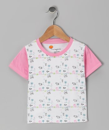 Pink Sea Critter Organic Tee - Toddler & Girls