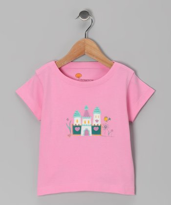 Pink Castle Organic Tee - Toddler & Girls