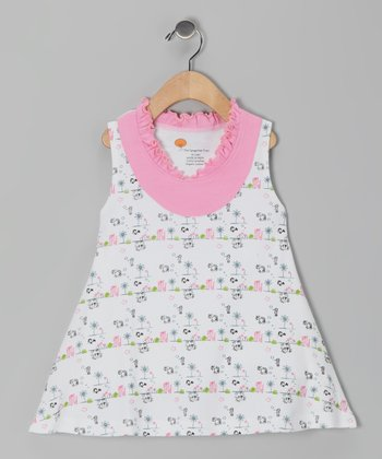 Pink Sea Critter Organic Yoke Dress - Infant, Toddler & Girls