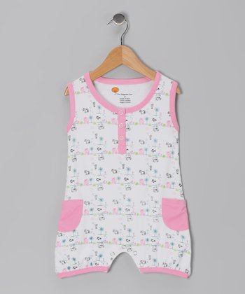 Pink Sea Critter Organic Romper - Infant