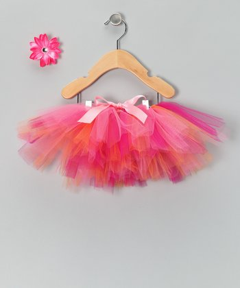 Sherbet Tutu & Daisy Clip - Infant, Toddler & Girls