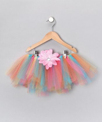 Pastel Tutu & Clip - Infant, Toddler & Girls