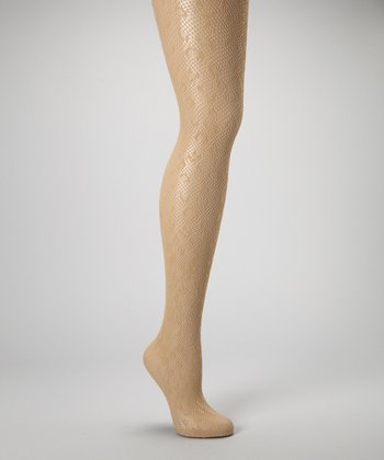 Nude Leopard Fishnet Tights