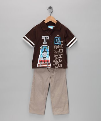 Chocolate Thomas Polo & Pants - Toddler