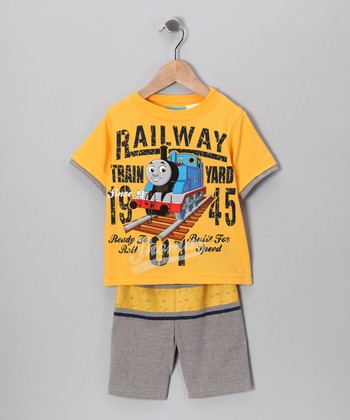 Yellow Thomas 'Railway' Tee & Shorts - Infant