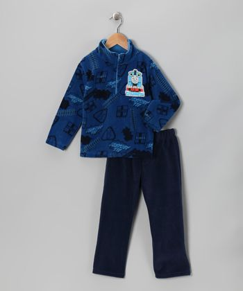 Blue 'Thomas' Pullover & Sweatpants - Toddler