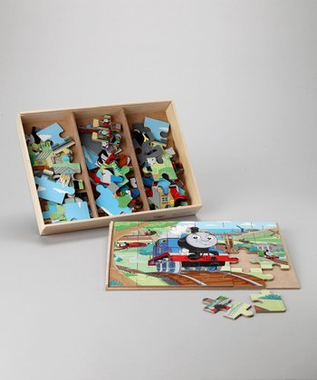 Thomas the Tank 24-Piece Wooden Puzzle Set
