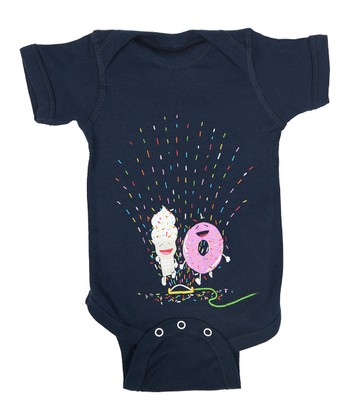 Navy Playin' in the Sprinkler Bodysuit - Infant