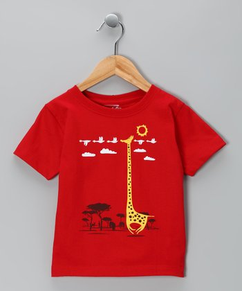 Red I'm Like a Bird! Tee - Toddler & Kids