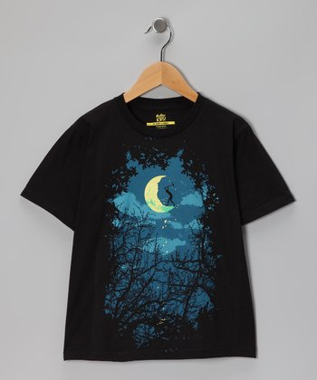Black Midnight Worker Tee - Boys