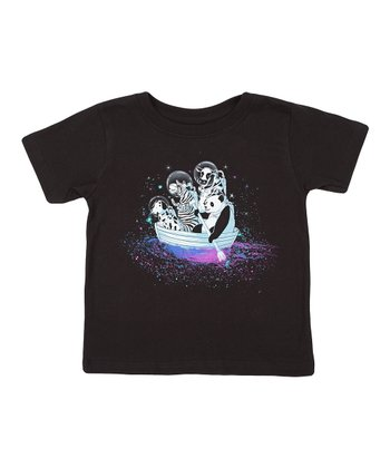 Black Color Sailing Tee - Toddler & Kids