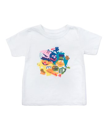 White The Street Gang Tee - Toddler & Kids