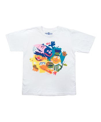 White The Street Gang Tee - Boys