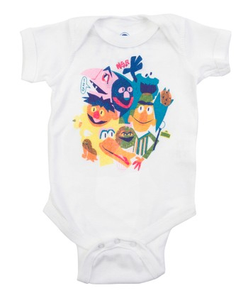 White The Street Gang Bodysuit - Infant