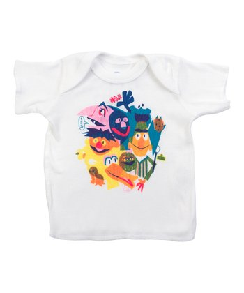 White The Street Gang Lapneck Tee - Infant