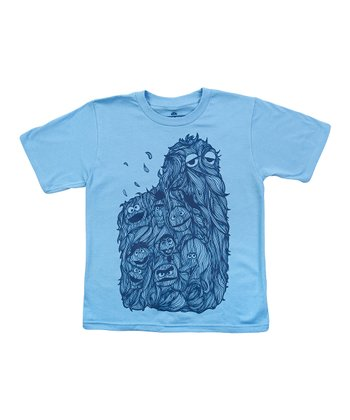 Sky Blue Hairy Street Tee - Boys