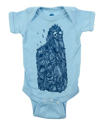 Baby Blue Hairy Street Bodysuit - Infant