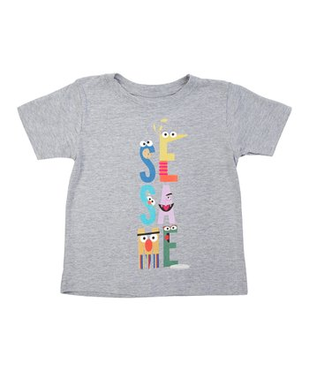 Heather Gray Letters Tee - Toddler & Kids