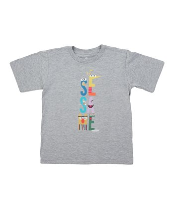 Heather Gray Letters Tee - Boys