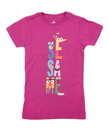Plum Letters Tee - Girls