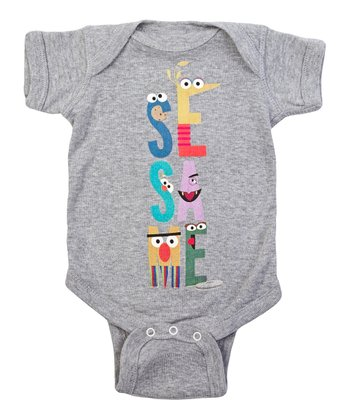 Heather Gray Letters Bodysuit - Infant