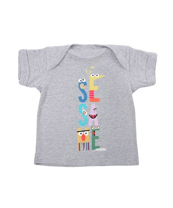 Heather Gray Letters Lapneck Tee - Infant