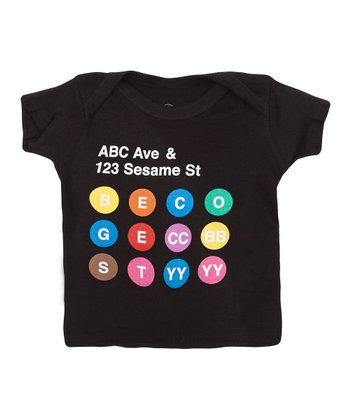 Black 'ABC Ave & Sesame Street' Lapneck Tee - Infant