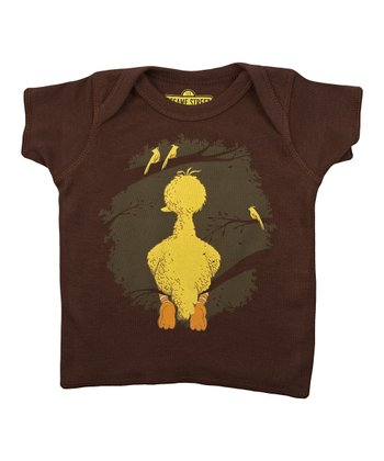 Brown Big Bird Lapneck Tee - Infant
