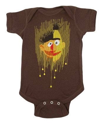 Brown Bert & Ernie Bodysuit - Infant