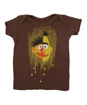 Brown Bert & Ernie Lapneck Tee - Infant