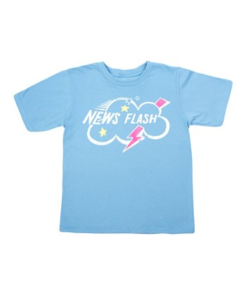 Baby Blue Sesame 'News Flash' Tee - Boys