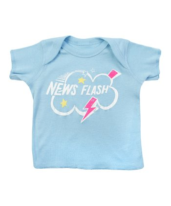 Baby Blue Sesame 'News Flash' Lapneck Tee - Infant