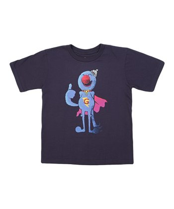 Navy Super Grover Tee - Boys