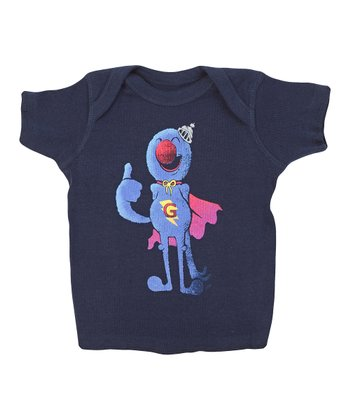 Navy Super Grover Lapneck Tee - Infant
