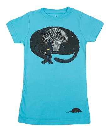 Pool Feline Nocturnus Tee - Girls