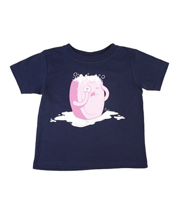 Navy Bubble Trouble Tee - Toddler & Kids