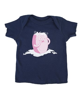 Navy Bubble Trouble Lapneck Tee - Infant