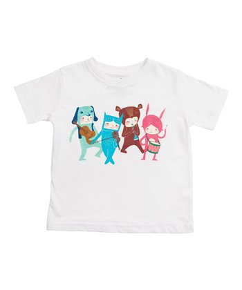 White The Musicians Tee - Toddler & Kids