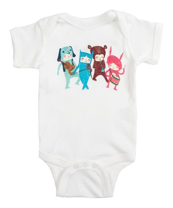 White The Musicians Bodysuit - Infant