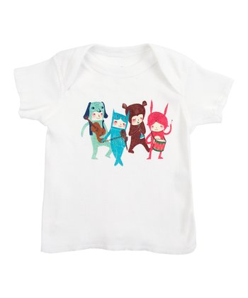 White The Musicians Lapneck Tee - Infant