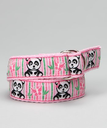 Light Pink Panda Ribbon Belt - Toddler & Girls